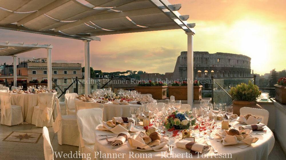 roof garden roma matrimonio