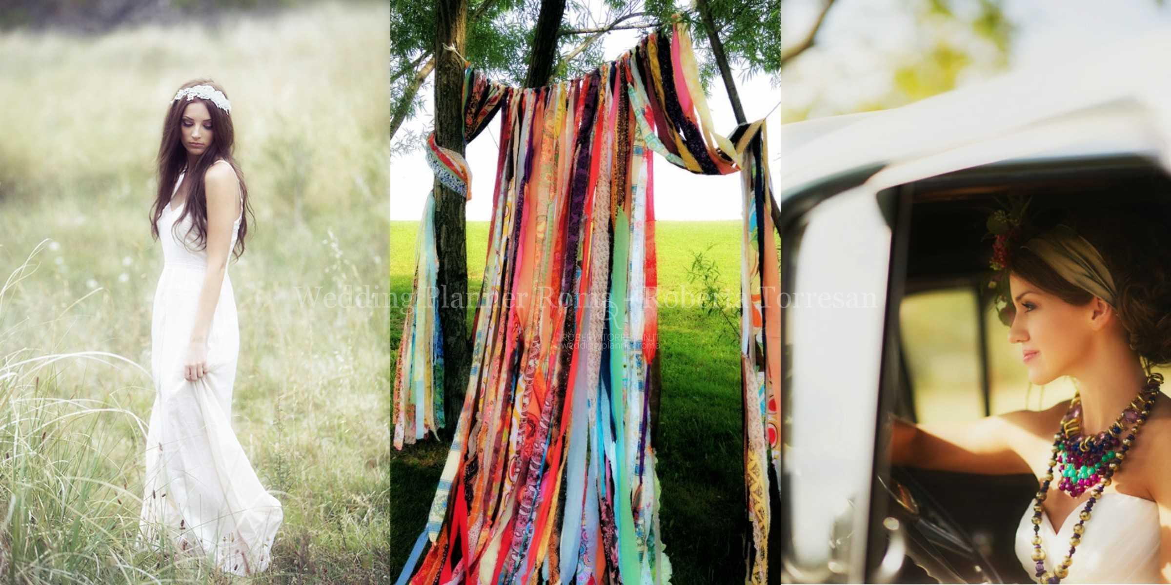 Matrimonio Tema Hippie : Matrimonio boho chic nozze bohemienne